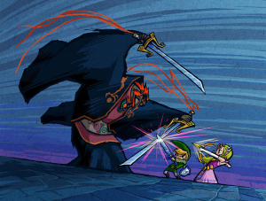 The three members of the Triforce: Let their battle rage on.