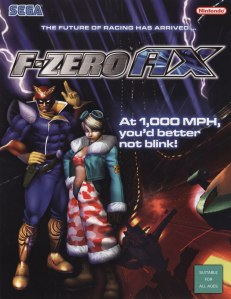 Yes that is Sega and Nintendo on the poster. You could also bring you GameCube memory card with F-Zero GX save data to plug into the arcade unit.